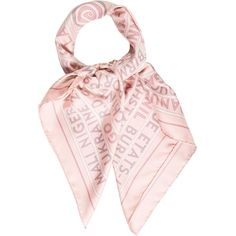 Pre-owned Herm?s Les Sources De La Vie Silk Scarf (16.875 RUB) ❤ liked on Polyvore featuring accessories, scarves, pink, hermes shawl, colorful shawls, multi colored scarves, pink scarves and pure silk scarves