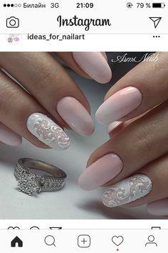 50 Top Best Wedding Nail Art Designs To Get Inspired Gold Nail Art, New Nail Art, Vintage Wedding Nails, Edge Nails, Spring Nail Trends, Luxury Nails, Dream Nails, Nail Studio, Bridal Nails