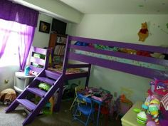 Camp Loft Bed | Do It Yourself Home Projects from Ana White EXTENDED PORCH!!!!!  COOL NOOK!