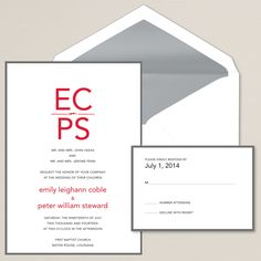 Sincerely Yours Wedding Invitation | Monogram initials | #exclusivelyweddings
