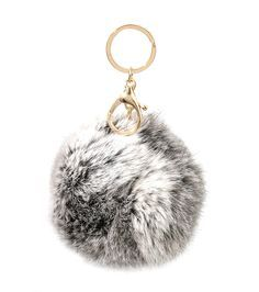 grey puff ball keychain - Google Search