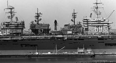 sixfrigates: years ago today: A congregation of carriers: moored in numerical order from front to back at Piers 11 and 12 at Naval Station Norfolk, Virginia, are the nuclear-powered aircraft. Us Navy Aircraft, Navy Aircraft Carrier, Virginia Usa, Norfolk Virginia, Naval Station Norfolk, Midway Museum, Uss America, Navy Carriers, Uss Nimitz
