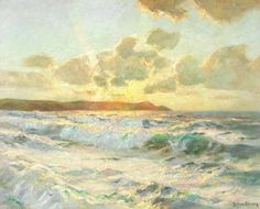 Albert Julius Olsson - Off Cornwall.