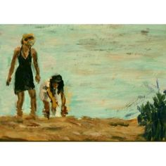 Seaside, An Original ACEO Painting in Zibbet's ACEO Challenge #zibbet