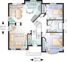 First Floor Plan of Victorian   House Plan 65357