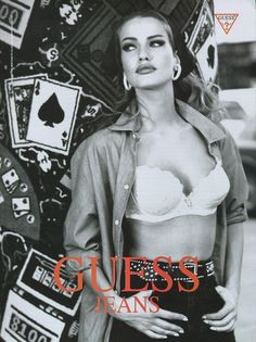 80s-90s-supermodels:    Guess, 1991Photographer: Ellen von UnwerthModel: Karen Mulder