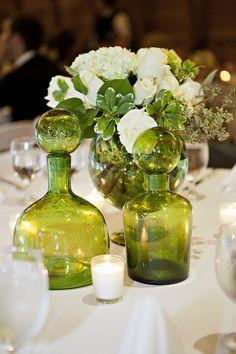 Vibrant Green Wedding Centerpieces | Courtney Bowlden Photography