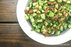 Israeli Salad makes the perfect side dish and is packed with good for you veggies - 85 calories and 2 PointsPlus