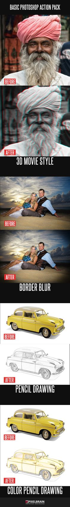 Basic Style Photoshop Action by PixelBrainCS Basic Photoshop Action High quality Photoshop Action. Convert your images to 3d Movie style with this cool 1-click Photoshop acti