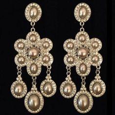 Pewter Pearl Earrings