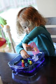 Fun at Home with Kids: Super Easy Sensory Play: Ice and Warm Water