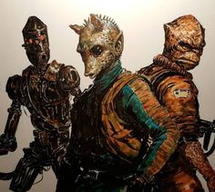 """daverapoza: """"Here are some bad cellphone photos of my recent Star Wars inks & markers! Worked up some of my favorite characters - Greedo, and Bossk! You can check out a tiny inking video on my. Rpg Star Wars, Star Wars Fan Art, Star Wars Zeichnungen, Chasseur De Primes, Ig 88, Images Star Wars, Edge Of The Empire, Star Wars Bounty Hunter, Star Wars Drawings"""