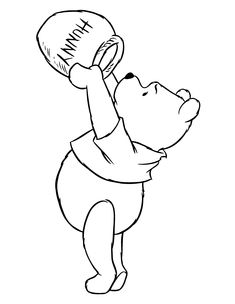 Winnie The Pooh Bear Hungry For Honey Coloring Page