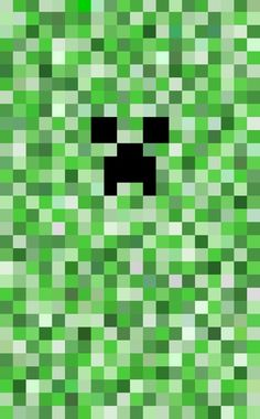 Simple Pixel Minecraft Creeper Art Print by Mage Lanz | Society6