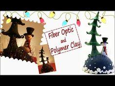 Fiber optic and polymer clay- Christmas decoration DIY - YouTube