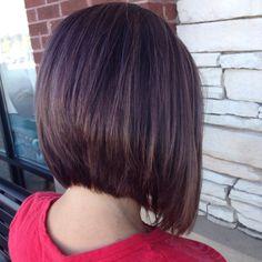Fall hair Bob with bayalage #fallhair #bob #shorthair #mediumbob #bayalge #kuene #theartofhairdesign #brunette #caramel #mahogany #hairtrends2015 @kimhackney3