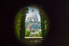 VIew through a key hole in rome.  Highlight of the trip