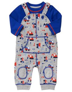 NWT Gymboree Good Old Days 3-6 Months Navy Red Car Wagon Tricycle Raglan Romper