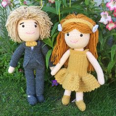 Latest dolls to be completed.  This time a flowergirl & pageboy all ready for a wedding 😊