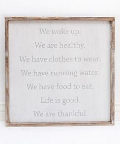 Look at this 'We are Thankful' Framed Wall Sign on #zulily today!
