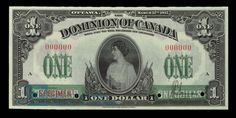 Dominion of Canada Dollar, 1917 - Image courtesy of the Bank of Canada | #banknote #money