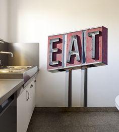 Streetwallz - Eat sign Wall Decal, $80.00 (http://www.streetwallz.com/eat-sign-wall-decal/)