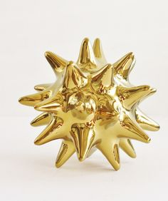 The perfect home accessory - Gold Ceramic Urchin. Holiday gift, hostess gift, modern home accessory, decor