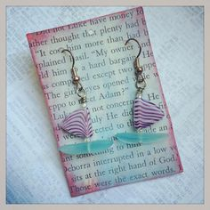 Haven't you always wanted a sailboat or two? #earrings #jewelry #sailboat #sailboats #znetshows #culturedseaglass #seaglassbeads #purple #aqua #cute #hamdmade #sailing #sailors #etsy