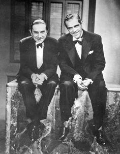 Bela Lugosi and Boris Karloff... trying to look harmless if not friendly