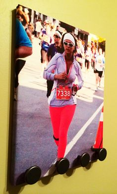 Customized Running Medal Display Holder / Rack!  Use Your Personal Photo! Great Gift!