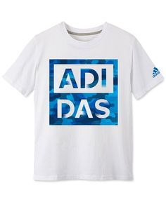 Adidas Boys' Logo Graphic Tee - Sizes S-XL Kids - Bloomingdale's Addidas Shirts, Tee Shirts, Graphic Tee Style, Graphic Tees, Sport Shirt Design, Boys Designer Clothes, Trendy Mens Fashion, Sports Shirts, Shirt Designs