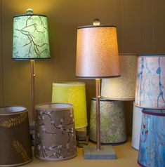 Decorative Lamp Shades | Hand made papers light up any corner of a room.