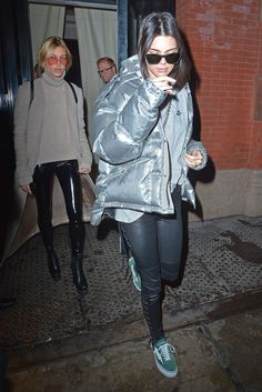 Kendall Jenner's New York Fashion Ween Street Style and the Puffer Jacket Trend