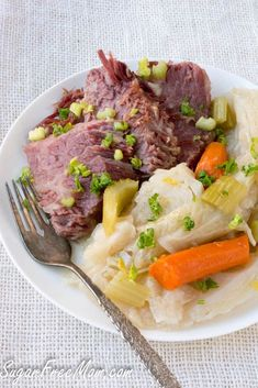 Low Carb Corned Beef and Cabbage made in the Instant Pot or Crock Pot- sugarfreemom.com