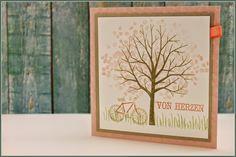 Baum der Freundschaft, Kirschblüte, Calypso, Fahrrad, Karte, Stampin up!