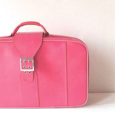 Vintage Hot Pink Suitcase by Samsonite by FlyingAce on Etsy, $38.00