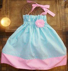 New Boutique Chevron Easter Halter Dress Custom Ruffles Rosette All Sizes | eBay