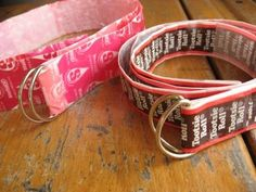 Candy Wrapper Crafts: Candy Wrapper Belts