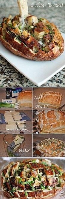 Blooming Onion Bread  @Amber Vigneault and @Jess Liu Vigneault Heid - AHHHHH  MUST MAKE THIS!