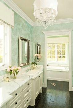 Another tiffany blue bathroom