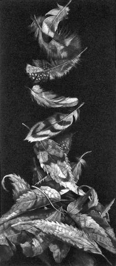 """This is a mezzotint by Judith Rothchild: """"Caprice I"""" available at www.missiongalleryart.com"""