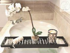 Bathtub Tray -Rustic Bathtub Caddy -Tub Tray - Wood Tub Shelf -Bathroom -Bathroom Decor -Home Decor -Rustic -Unique Gifts -For Her-Tub Caddy