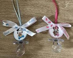 Mickey Baby Shower Pacifier Favors, Set of 12, Minnie Baby Shower Favors, Baby Pacifier Necklace, Don't say Baby game, Don't cross legs game