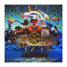 """BARNEY'S, Madison Avenue, New York, """"A collection of celebrated artists to interpret its themed 'Love Peace Joy' Holiday's/Christmas project"""", pinned by Ton van der Veer"""