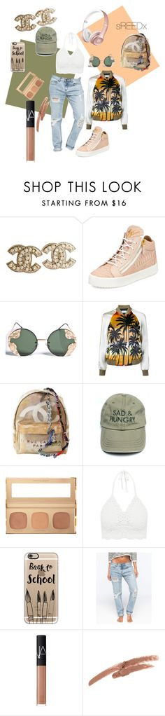 """""""School Daze."""" by shanaerochelle on Polyvore featuring Chanel, Giuseppe Zanotti, Spitfire, Yves Saint Laurent, Bare Escentuals, Casetify, Billabong, NARS Cosmetics and NYX"""