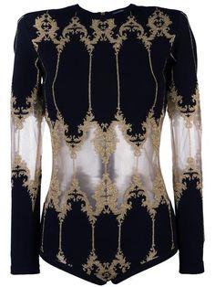 Balmain baroque detail bodysuit