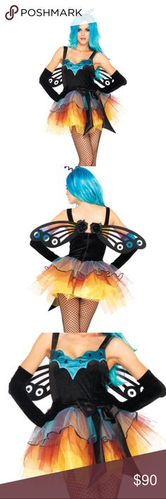 NWT HALLOWEEN COSTUME MULTI FAIRY DRESS COLORFUL COSTUME SET INCLUDES DRESS AND HEADBAND ONLY WIGS ARE NOT INCLUDED  DRESS IS FAUX VELVET TEXTURE  COSTUME IS IN ORIGINAL PACKAGING AND WILL NOT BE MODELED Dresses