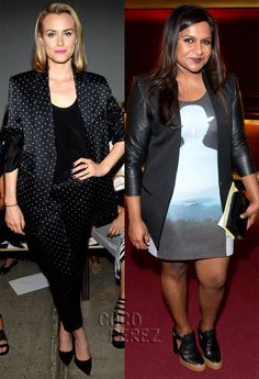 Taylor Schilling & Mindy Kaling Make Interesting Fashion Choices For NYFW!
