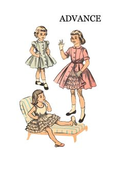Vintage 1950s Advance 6176 Girls Fitted by pinkpolkadotbutton, $18.00