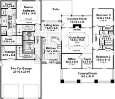 Find your dream craftsman style house plan such as Plan which is a 1940 sq ft, 3 bed, 2 bath home with 2 garage stalls from Monster House Plans. Craftsman Style House Plans, Cottage House Plans, Country House Plans, Cottage Homes, Craftsman Cottage, Craftsman Homes, Country Houses, Cottage Style, Farmhouse Style